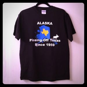 Alaska pissing texas off tshirts